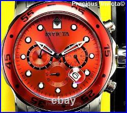 NEW Invicta Men's 48mm PRO DIVER SCUBA Chronograph Quartz RED DIAL Watch-RARE