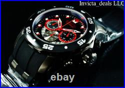 NEW Invicta Men's 48mm Pro Diver SCUBA COMBAT Black & Red Stainless Steel Watch
