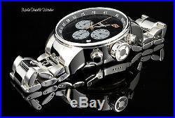 NEW Invicta Men's 48mm S1 Rally Quartz Chronograph Black Dial Bracelet Watch