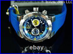 NEW Invicta Men's 50mm AVIATOR AIRLIFT Chronograph BLUE DIAL Blue Tone SS Watch