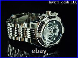 NEW Invicta Men's 50mm BOLT Chronograph Black/Silver Dial High Polished SS Watch