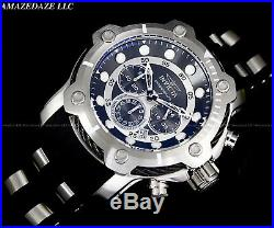 NEW Invicta Men's 50mm Bolt Chronograph BLACK DIAL Stainless Steel 100M Watch