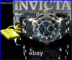 NEW Invicta Men's 50mm Bolt Chronograph BLUE DIAL Stainless Steel 100M Watch