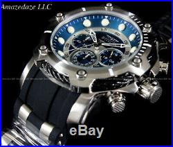 NEW Invicta Men's 50mm Bolt Chronograph Blue Dial Stainless Steel Watch