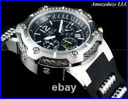 NEW Invicta Men's 50mm Bolt Chronograph Stainless Steel BLACK DIAL Watch