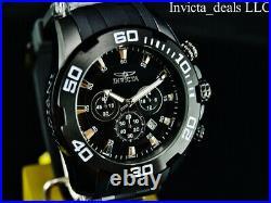 NEW Invicta Men's 50mm PRO DIVER SCUBA COMBAT TRIPLE BLACK Stainless Steel Watch
