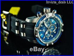NEW Invicta Men's 50mm SPEEDWAY HYBRID SCUBA Chrono Sapphire BLUE Dial SS Watch
