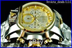 NEW Invicta Men's 52MM Bolt ZEUS MAGNUM Chronograph Dual Movement SS Watch