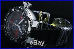 NEW Invicta Men's 52MM Grand Pro Diver Grey Dial Red Accent SS Black Strap Watch