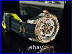 NEW Invicta Men's 52mm BOLT VIPER SNAKE Automatic Silver & Rose Tone SS Watch