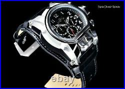 NEW Invicta Men's 52mm Bolt Zeus Magnum Quartz Chronograph BLACK Leather Watch