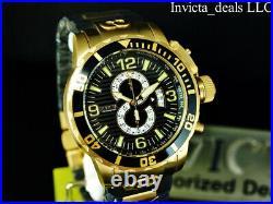 NEW Invicta Men's 52mm CORDUBA IBIZA Chronograph BLACK DIAL Gold Tone SS Watch