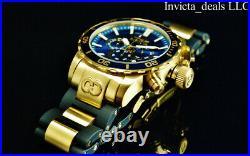 NEW Invicta Men's 52mm CORDUBA IBIZA Chronograph BLUE DIAL Gold Tone SS Watch