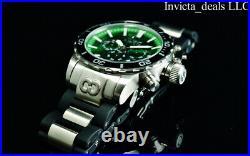 NEW Invicta Men's 52mm CORDUBA IBIZA Chronograph GREEN DIAL Silver Tone SS Watch