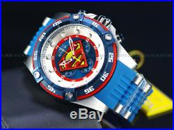 NEW Invicta Men's 52mm DC Comics SUPERMAN Quartz Chronograph Blue Tone SS Watch