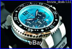 NEW Invicta Men's 52mm Grand OCEAN VOYAGE Chronograph Sea Blue Dial SS Watch