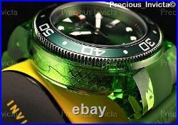 NEW Invicta Men's 52mm Grand Pro Diver Quartz ANATOMIC CASE Green Tone SS Watch