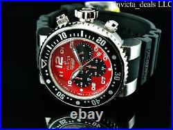 NEW Invicta Men's 52mm Pro Diver OCEAN VOYAGE Chronograph RED DIAL SS Watch