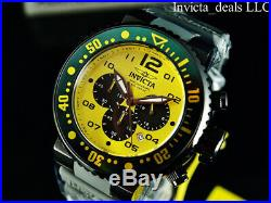 NEW Invicta Men's 52mm Pro Diver Ocean Voyager Chronograph Yellow Dial SS Watch