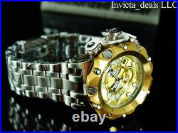 NEW Invicta Men's 52mm Reserve VENOM HYBRID Swiss Chronograph GOLD DIAL SS Watch