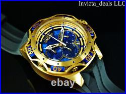 NEW Invicta Men's 52mm Venom Gen III Chrono BLUE DIAL Gold/Blue Tone SS Watch
