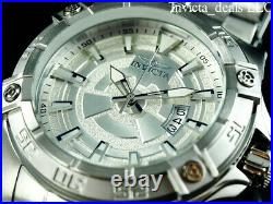 NEW Invicta Men's 54mm Pro Diver AUTOMATIC NH35 SILVER DIAL Silver Tone SS Watch