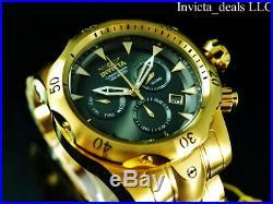 NEW Invicta Men's 54mm VENOM Swiss Z60 Chronograph Gunmetal Dial 18K GP SS Watch