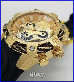 NEW Invicta Men's Bolt 31296 51MM Case Chronograph Day/Date Gold Dial Watch