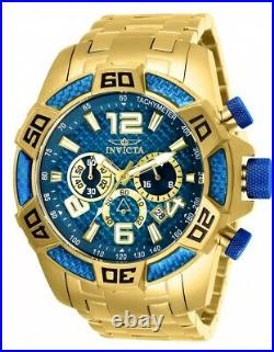 NEW! Invicta Men's Gold 50MM Pro Diver Quartz Chronograph Stainless Steel Watch