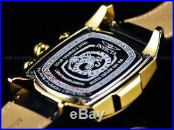 NEW Invicta Men's Grand Lupah Dragon Swiss Ronda Chronograph Black Dial SS Watch