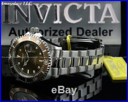 NEW Invicta Men's Pro Diver SUBMARINER Brown Dial Stainless Steel 200 M Watch