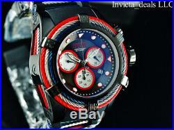 NEW Invicta Men's Reserve 53mm Bolt ZEUS Swiss Chronograph COMBAT Black SS Watch