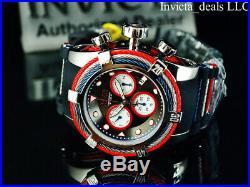 NEW Invicta Men's Reserve 53mm Bolt ZEUS Swiss Chronograph TRIPLE Black SS Watch