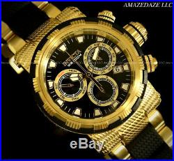 NEW Invicta Mens 18K Gold Plated Stainless Steel Swiss Chronograph Capsule Watch