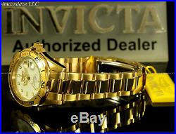 NEW Invicta Mens 18K Gold Plated Stainless Steel White Dial Prodiver 200M Watch