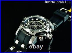 NEW Invicta Mens 50mm BOLT NAUTICAL Chronograph BLACK DIAL Stainless Steel Watch