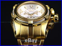 NEW Invicta Mens 52mm Bolt Zeus Swiss Chrono Day Date 18K Gold IP SS Diver Watch