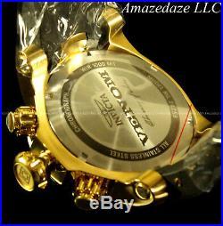 NEW Invicta Mens 52mm Venom 18K Gold Plated SS Titanium Bezel Chronograph Watch