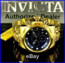 NEW Invicta Mens 52mm Venom Swiss Chronograph Stainless Steel Blue Dial Watch
