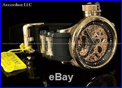 NEW Invicta Mens Mechanical Skeleton Russian Diver 18K Rose Gold Plated SS Watch