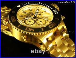 NEW Invicta Mens SAS Chronograph 18K Gold Plated Stainless Steel 500M Watch