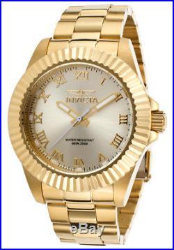NEW! Invicta Pro Diver Champagne Dial Gold-tone Roman Numerals Mens Watch 16739