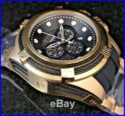 NEW Invicta Reserve Men's Bolt Zeus Gold Tone & Black Carbon Fiber Watch 12666