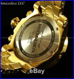 NEW Invicta Reserve Mens 52mm Venom Swiss Chronograph 18K Gold Plated SS Watch