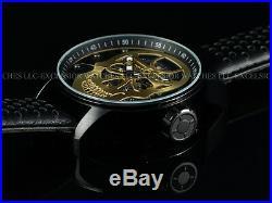 NIB Invicta Men 48mm Golden Skull TY2807 Mechanical S1 Rally Black IP SS Watch