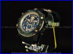 NWT Invicta Men 52mm Limited Ed. Marvel Bolt PUNISHER Chronograph Black IP Watch