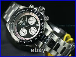 NWT Invicta Men's Speedway Paul Newman Panda Dial Chronograph SS Bracelet Watch
