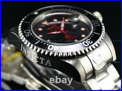 New Invicta 47mm Men's Grand Diver NH35 Automatic Red Label Silvertone SS Watch