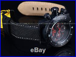 New Invicta 50mm Mens Combat Military Stealth Corduba Chrono Red Accent SS Watch