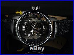 New Invicta Men 48mm Gunmetal Skull TY2807 Mechanical S1 Rally Black IP SS Watch